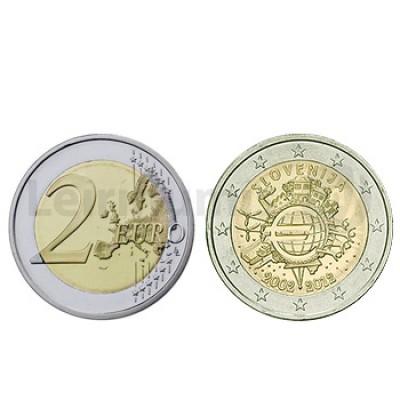 2 Euros 10 Aniversário da Moeda Euro Eslovénia 2012