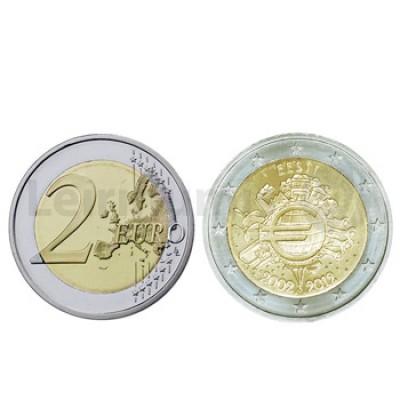 2 Euros 10 Aniversário da Moeda Euro Estónia 2012