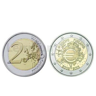 2 Euros 10 Aniversário da Moeda Euro Finlandia 2012