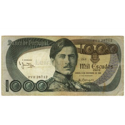 1000 Escudos - Portugal 1968-82 Bela