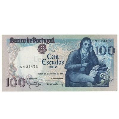 100 Escudos - Portugal 31-1-1984 Bela