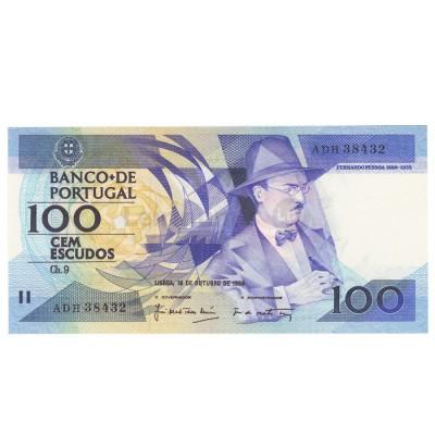 100 Escudos - Portugal 16-10-1986 Bela