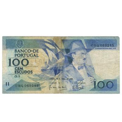 100 Escudos - Portugal 24-11-1988 Bela