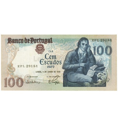 100 Escudos - Portugal 4-6-1985 Bela