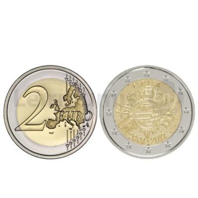 2 Euros 10 Aniversário da Moeda Euro Espanha 2012
