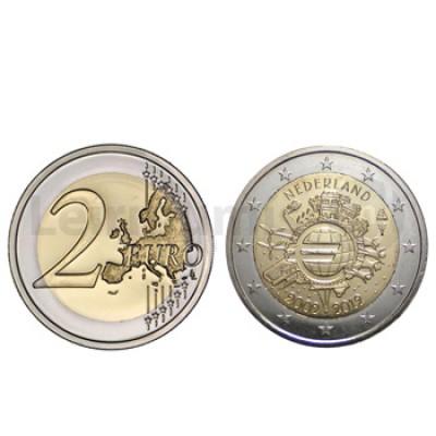 2 Euros 10 Aniversário da Moeda Euro Holanda 2012