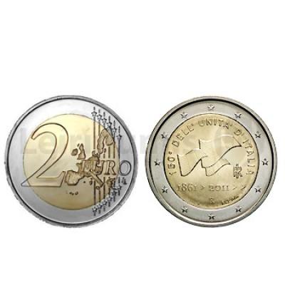 2 Euros 150 Aniversário da Unificação Itália Italia 2011