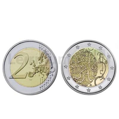 2 Euros 150 Anos Moeda Finlandesa Finlandia 2010