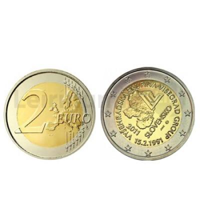 2 Euros 20º Aniversario Grupo Visegrad Eslováquia 2011