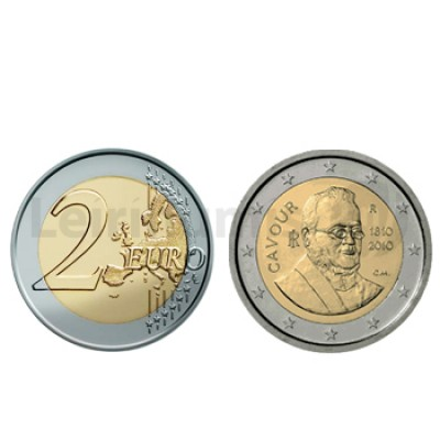 2 Euros Camillo Benso di Cavour Italia 2010