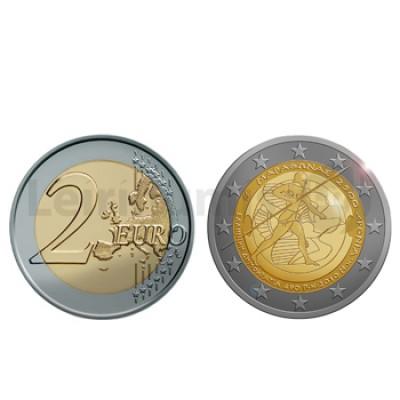 2 Euros 2500 Anos da Batalha de Maratona Grécia 2010