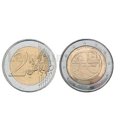2 Euros 10 Aniversário da UEM Eslovenia 2009