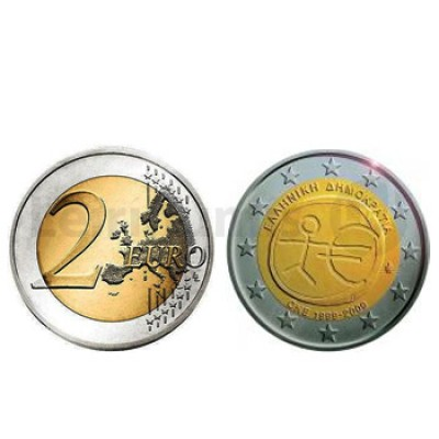 2 Euros 10 Aniversário da UEM Grécia 2009