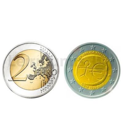 2 Euros 10 Aniversário da UEM Italia 2009