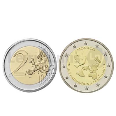 2 Euros 20 Anos Admissão à ONU Mónaco 2013