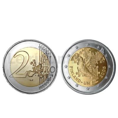 2 Euros 60 Aniversário Criação ONU Finlandia 2005