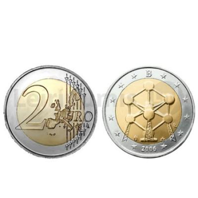 Moeda 2 Euros Atomium Bélgica 2006