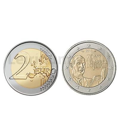 2 Euros Charles de Gaulle França 2010