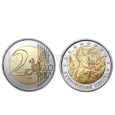 2 Euros 1 Aniversário Constituição Europeia Italia 2005