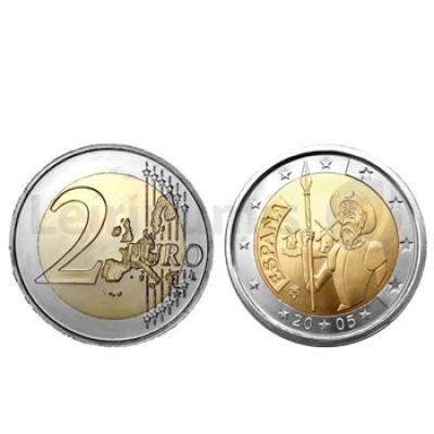 2 Euros D Quixote Espanha 2005