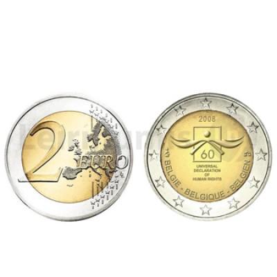 2 Euros 60 Aniversário Direitos Humanos Bélgica 2008