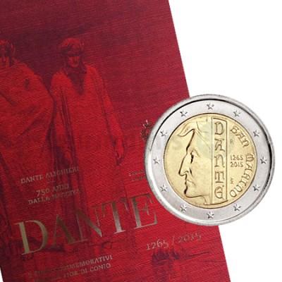 2 Euros 750 Aniversário de Dante - San Marino 2015