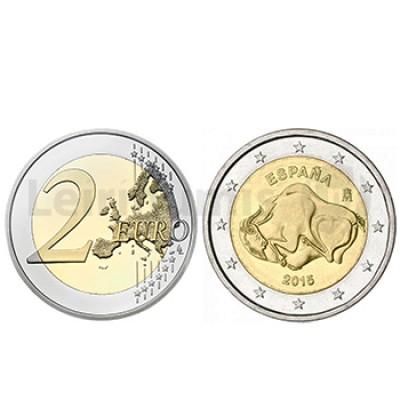 2 Euros Bisonte Grutas Altamira - Espanha 2015