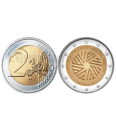2 Euros Presidencia na EU - Letónia 2015