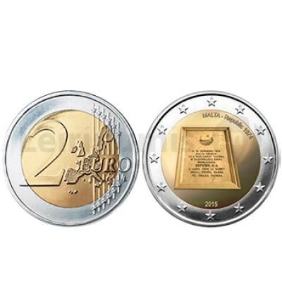 2 Euros 41 Anos República 1974 - Malta 2015
