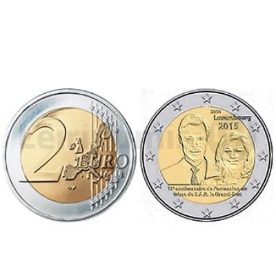 2 Euros Ascenção ao Trono - Luxemburgo 2015