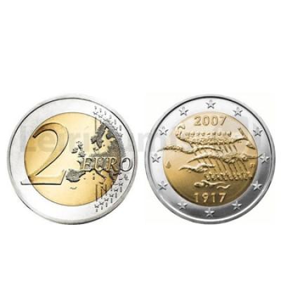 2 Euros 90 Anos Independência Finlandia 2007