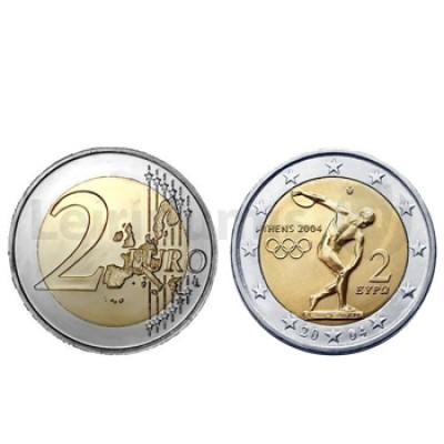 2 Euros Jogos Olimpicos Atenas Grecia 2004
