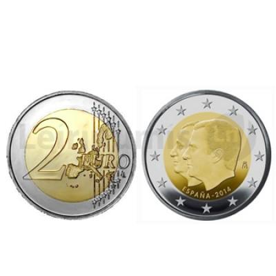 2 Euros Juan Carlos e Filipe VI Espanha (Sucessão do Trono)  2014
