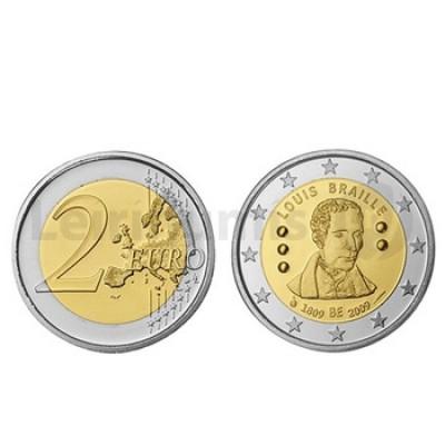 2 Euros Luís Braille Bélgica 2009