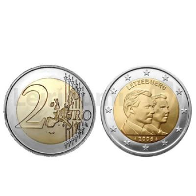 Moeda 2 Euros Guillaume Grão Duque Luxemburgo 2006