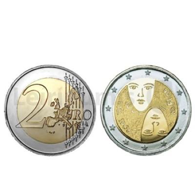 Moeda 2 Euros 100 Anos Suf. Universal Finlandia 2006