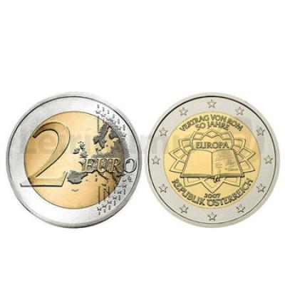 2 Euros Tratado Roma Austria 2007