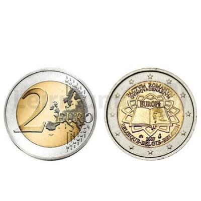 2 Euros Tratado de Roma Bélgica 2007