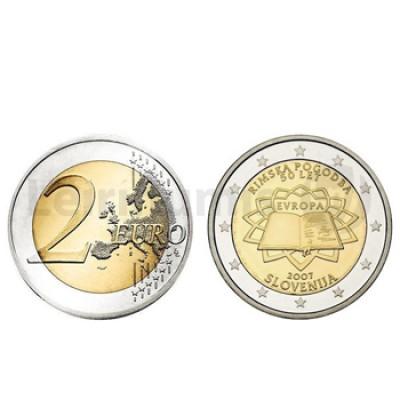 2 Euros Tratado de Roma Eslovenia 2007 RARA