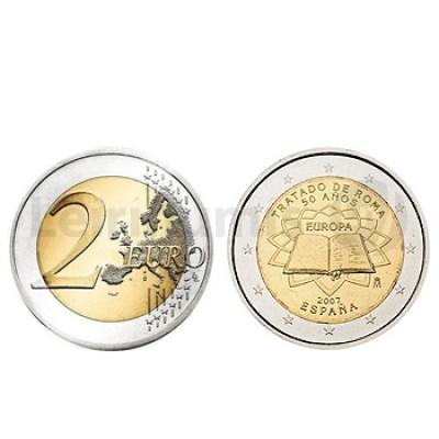 2 Euros Tratado de Roma Espanha 2007