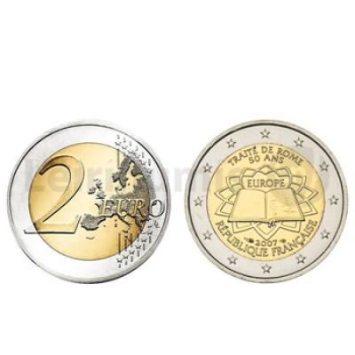 2 Euros Tratado Roma França 2007