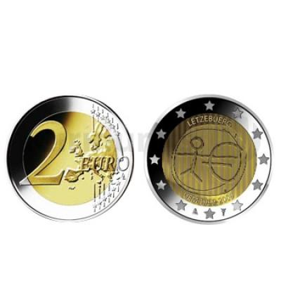 2 Euros 10 Aniversário da UEM Luxemburgo 2009
