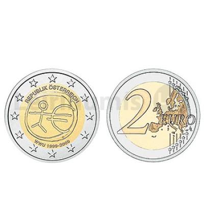 2 Euros 10 Aniversário da UEM Austria 2009