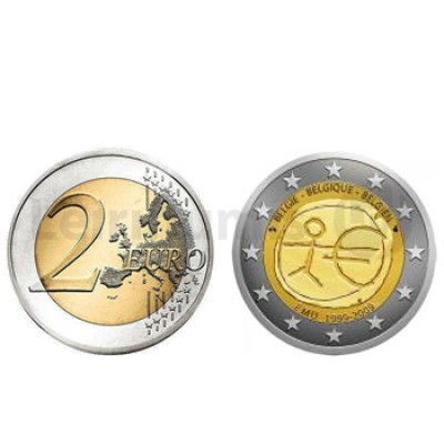 2 Euros 10 Aniversário da UEM Bélgica 2009