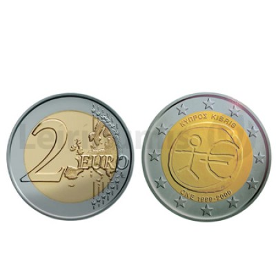 2 Euros 10 Aniversário da UEM Chipre 2009