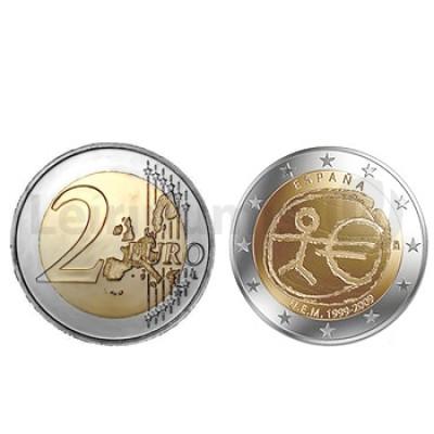 2 Euros 10 Aniversário da UEM Espanha 2009