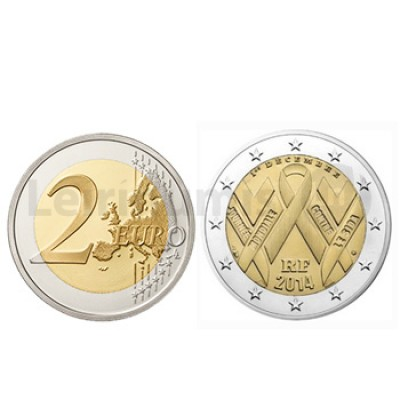 2 Euros Dia Mundial da Sida França 2014
