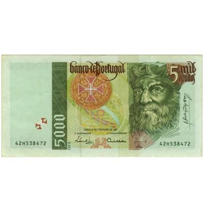 5000 Escudos - Portugal 1995-98 Bela