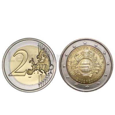 2 Euros 10 Aniversário da Moeda Euro Italia 2012