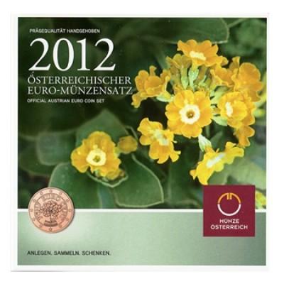 BNC - Áustria 2012 (c/9 moedas 1 cent a 2€ normais e 2€ comemorativa)